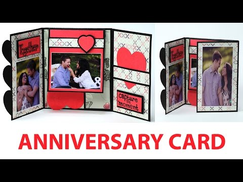 Handmade Anniversary Card - How to Make Anniversary Greeting Card