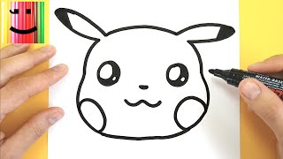 Dessin Emoji Comment Dessiner Pikachu Emoji Kawaii Tuto Dessin