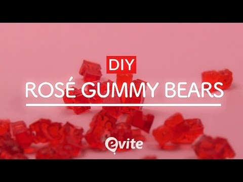 DIY Rosé Gummy Bears | How To Combine Alcohol and Dessert 🐻🍷