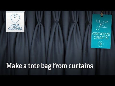Creative crafts: make a tote bag from curtains