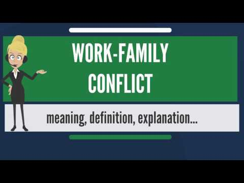 What is WORK-FAMILY CONFLICT? What does WORK-FAMILY CONFLICT mean? WORK-FAMILY CONFLICT meaning