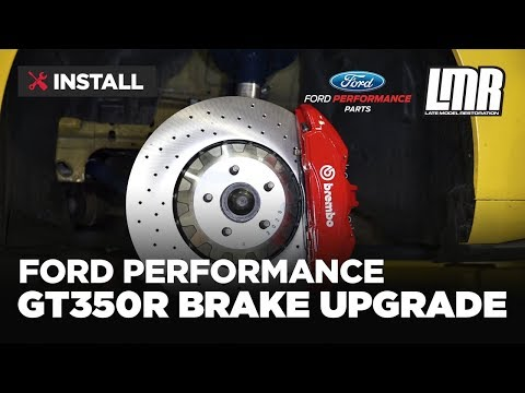 2015-2018 Mustang Ford Performance GT350R Brake Upgrade Kit - Install & Review (M-2300-Y)