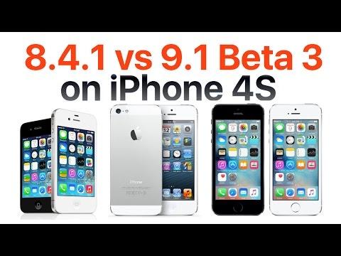 iPhone 4S iOS 9.1 Beta 3 vs iOS 8.4.1