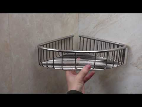 How to install soap and shampoo holder with screws