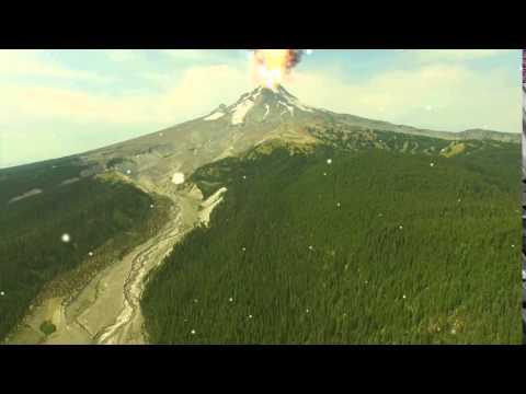 Volcano eruption Fake
