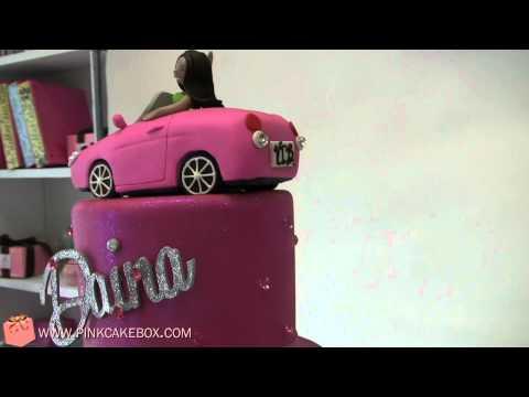 18th Birthday Hot Pink Cupcake Tower