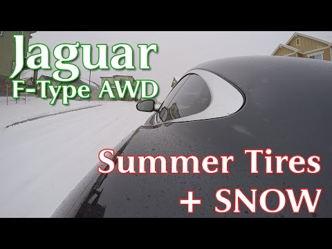 Jaguar F-Type R AWD in the Snow on Summer Tires