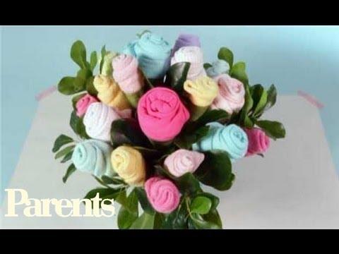 Baby Shower Ideas - Easy Onesie Bouquet | Parents