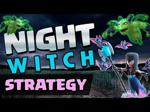 CLASH OF CLANS: BEST NIGHT WITCH STRATEGIES!