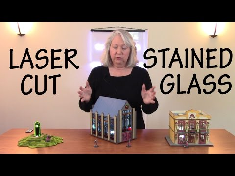 How to Design and Laser Cut a Stained Glass Chapel for Wargaming Tabletop Terrain