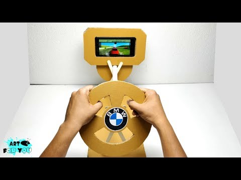 How To Make Gaming Steering Wheel From Cardboard | Car gaming joystick from Cardboard
