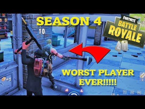 FOUND WORST PLAYER!  Fortnite Season 4 Funny Fails and Best Moments