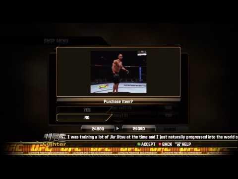 UFC Undisputed 2010 - Shop Menu
