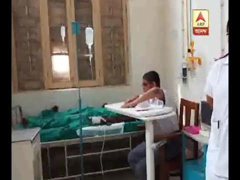 injured madhyamik candidate gives exam lying on hospital bed with the help of writer