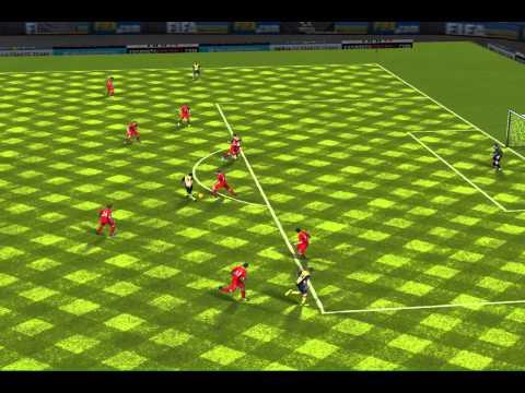 Финт David Villa в игре fifa 14 на ipad 4