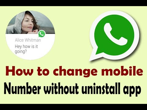 How to change whatsapp phone number/name/profile photo without uninstall app