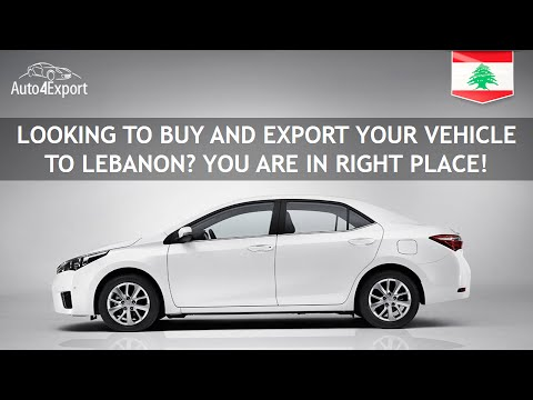 Shipping to Lebanon: cars and containers - Auto4Export