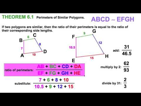 6.3  Identifying Similar Polygons & Scale Factor