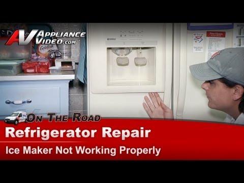 Refrigerator - Ice maker water dispenser not working-Repair - Kenmore - Whirlpool - Maytag - Sears