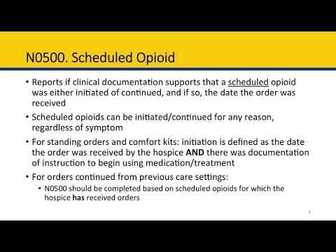 Module 6 Hospice Item Set: Section N, Medications