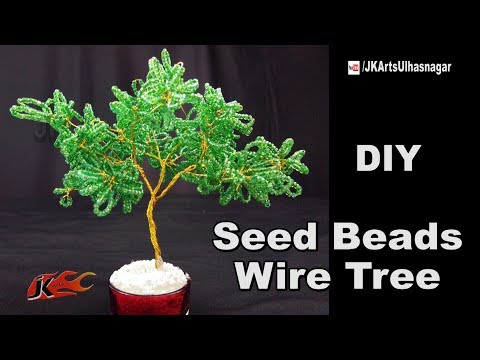 DIY Seed beads wire tree Tutorial | How to make | JK Arts 1230