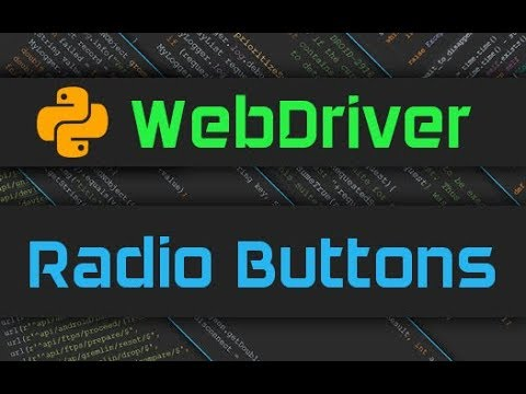 Advanced Webdriver - Radio Buttons
