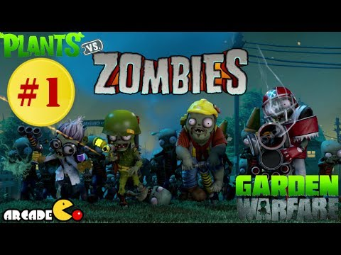 Plants Vs. Zombies: Garden Warfare Part 1 - Garden Ops Sharkbite Shores Walkthrough Gameplay