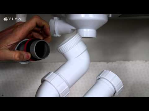 How to Install or Replace a Swivel P Trap Waste Fitting for a Bathroom Basin or Kitchen Sink