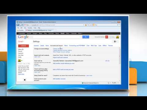 How to change the recovery e-mail address of Gmail® account