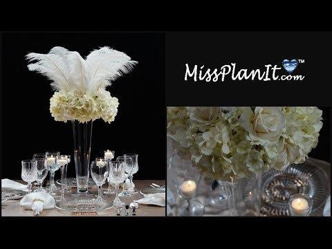 DIY Roaring 20's Tall Wedding Centerpiece | DIY Wedding Centerpieces | DIY Tutorial