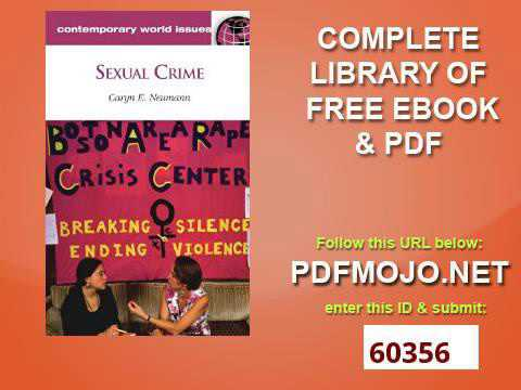 Sexual Crime A Reference Handbook Contemporary World Issues