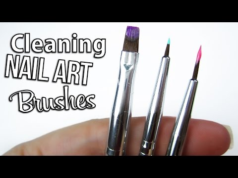 Clean Your Nail Art Brushes Perfectly!