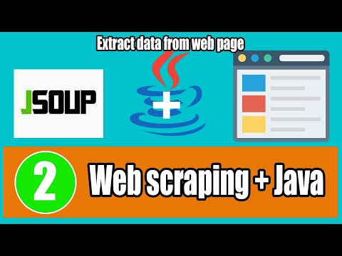 Tutorial 2- Jsoup Web Scraping data with Java Example 1 of 2