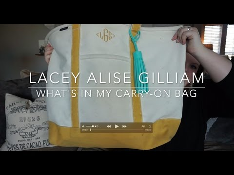 what's in my carry-on | lacey alise gilliam