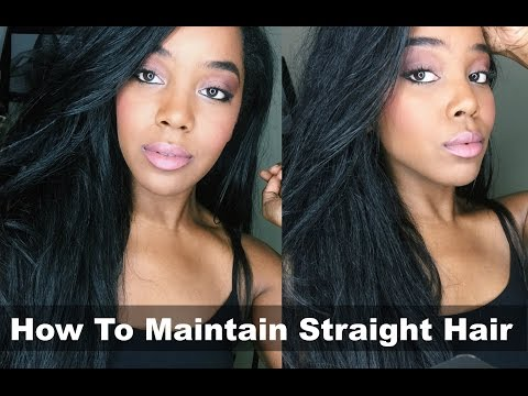 Maintain Straight Hair For Entire Month  | Natural Hair