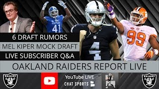 87e39c79b55 Oakland Raiders Report LIVE Rumors Plus Q&A With Mitchell Renz (4/16/19