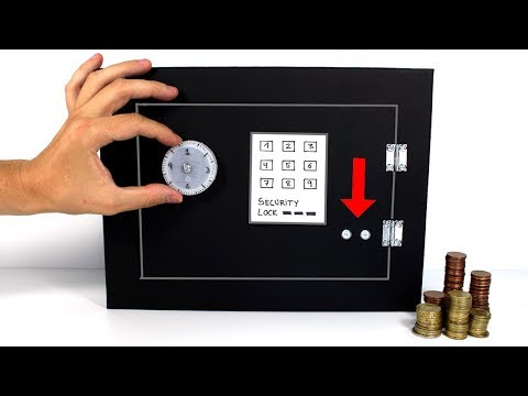 How to Make a Electric Safe from Cardboard| DIY Safe Piggy Bank