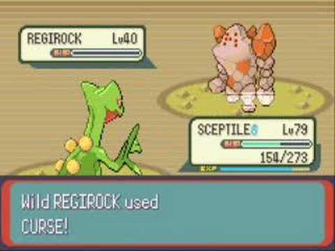 pokemon emerald - catching regirock