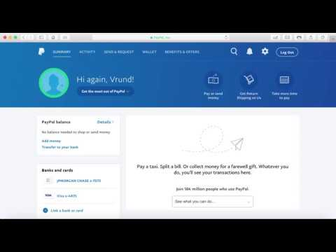 How Link card or bank and transfer/send money with PayPal (Gujarati)