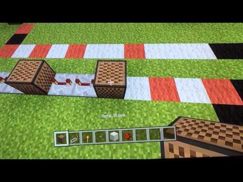 Minecraft Jurassic World trailer theme note block tutorial (pc,Xbox,playstation)