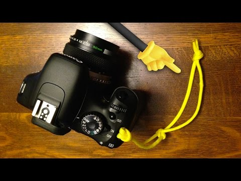 ADJUSTABLE! DIY Paracord Camera Wrist Strap by Knoptop