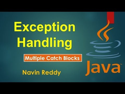 #9.2 Exception Handling |  Multiple Catch blocks