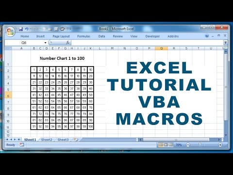 Excel Tutorial VBA Macros - How to create a number chart 1 to 100 using macro