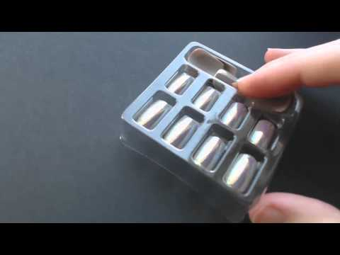 High-Reflective Shine Artificial Nails in Light Beam