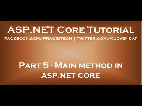 Main method in asp net core
