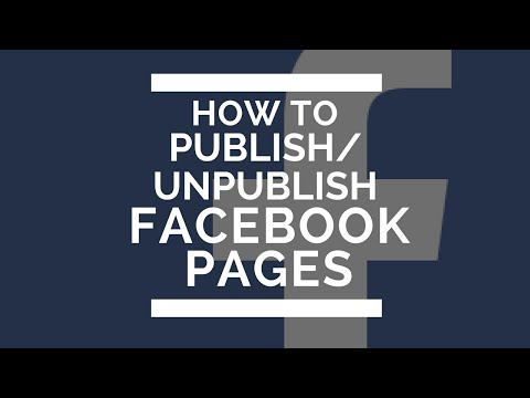 HOW TO PUBLISH FACEBOOK PAGES (2017)