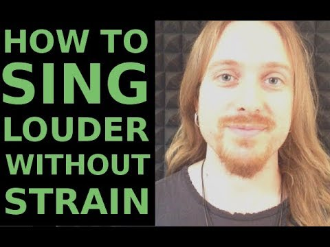 How to sing LOUDER without Strain
