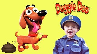 Doggie Doo game unboxing and review with silly funny kids featuring Dad