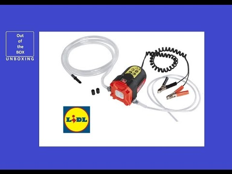 UltimateSpeed Oil Suction Pump UOP 12 B1 UNBOXING (Lidl Operates from a 12V car battery)