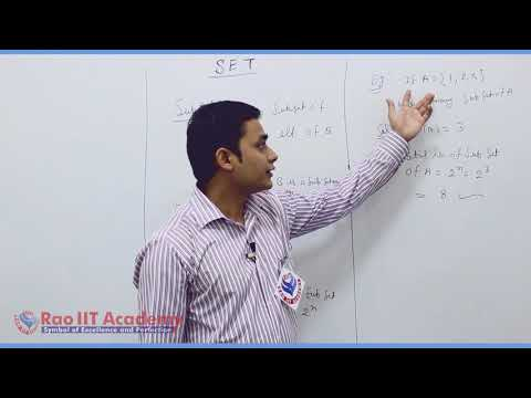 Set Relation Function Maths Part-2 std 11th HSC Board Video Lecture BY Rao IIT